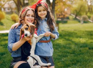criança e dog