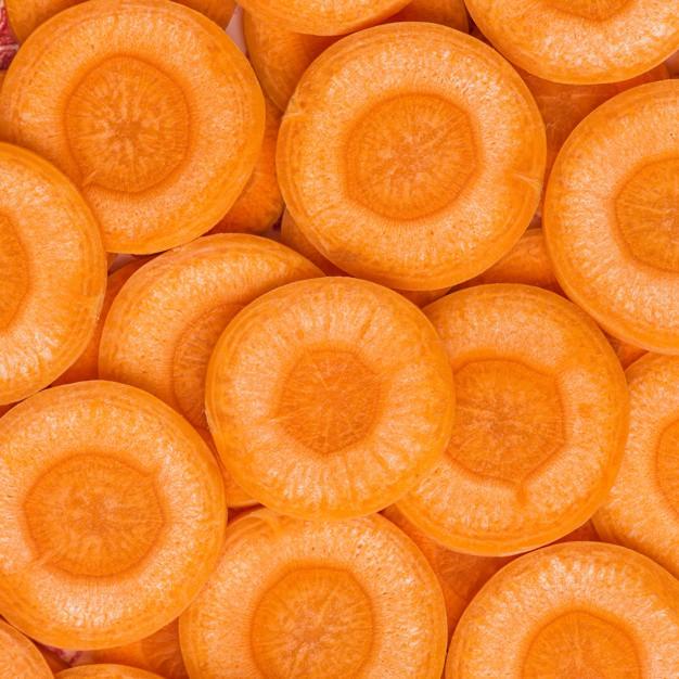 Cenouras cortadas