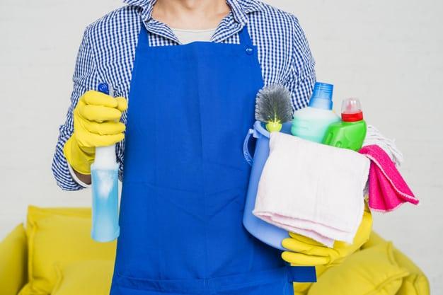 Produtos para usar na limpeza de brinquedos e objetos do cão