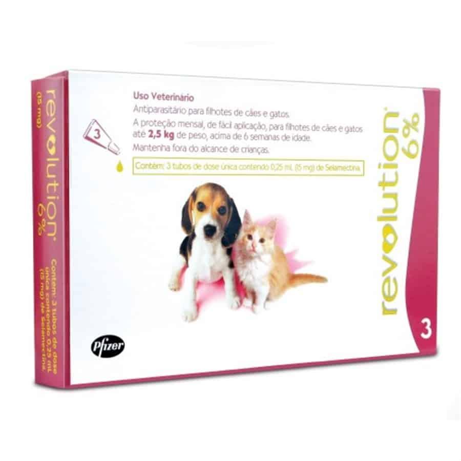 Caixa de Revolution para cães ou gatos contra pulgas e carrapatos